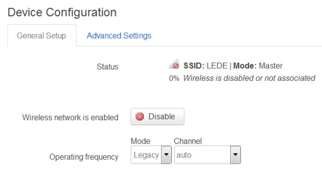 Screenshot of how to configure the Linksys WRT1200AC radios