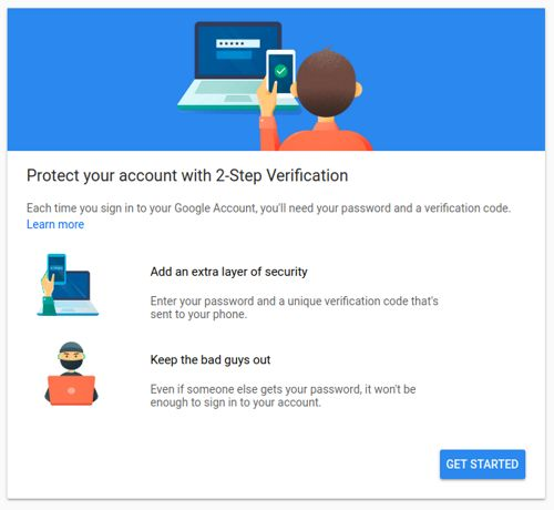 Start registration of Nitrokey FIDO u2f as second factor for Google Account 2Step-Verification